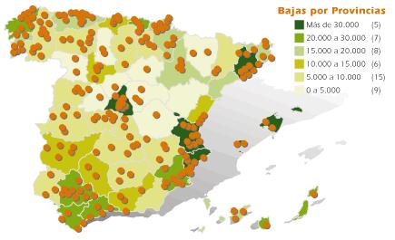Mapa socios AEDRA