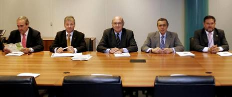 Firma convenio ANFAC, ANIACAM y FER